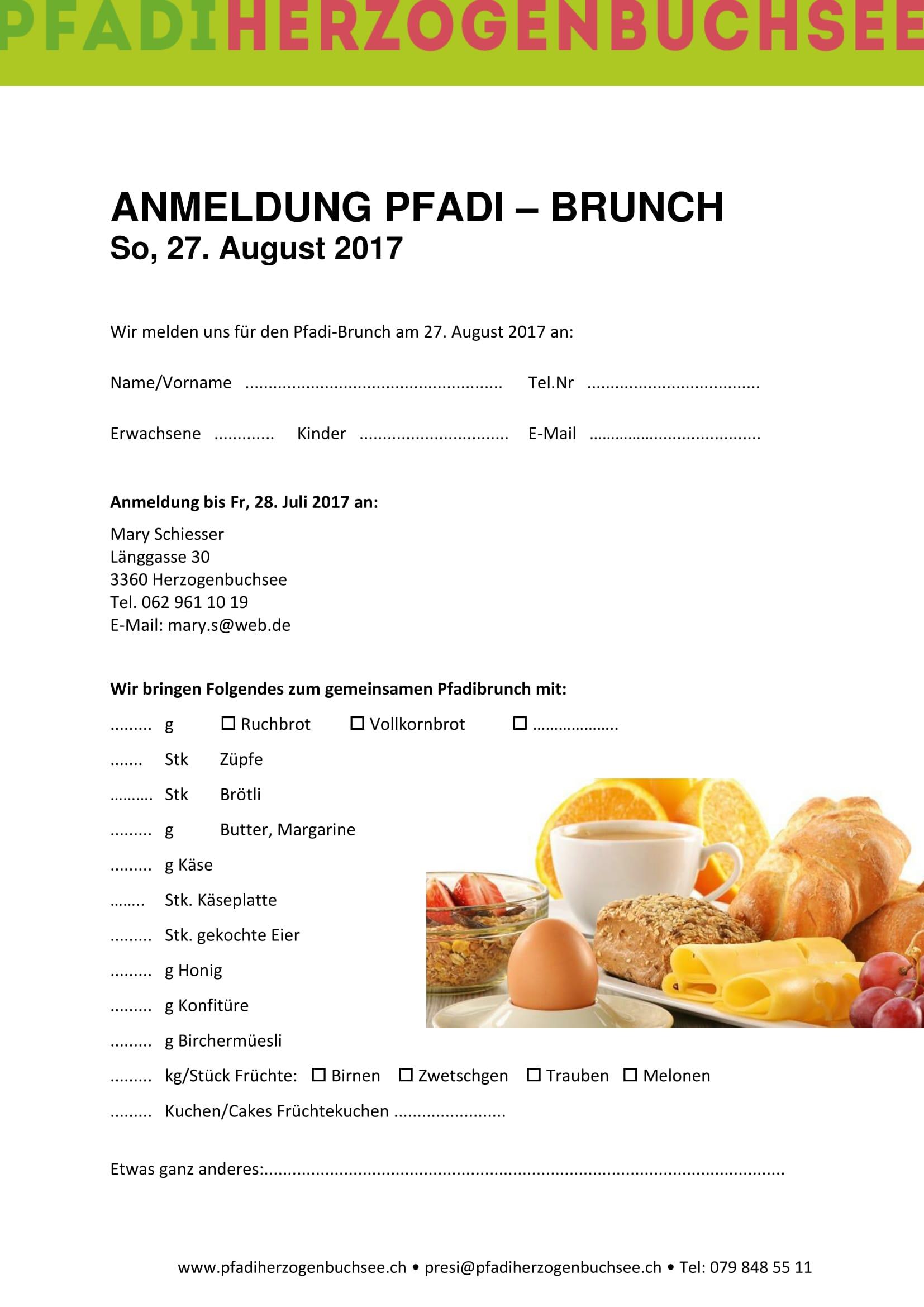 einladung pfadi-brunch 27.08.17 – komm vorbei! – pfadi herzogenbuchsee, Einladung